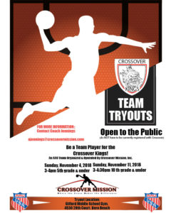 Crossover Mission AAU Tryouts Flyer